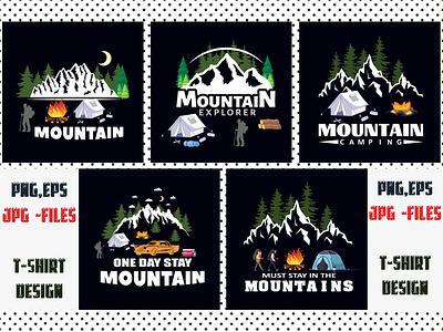 Mountain Sublimation T-shirt Bundle print fonts