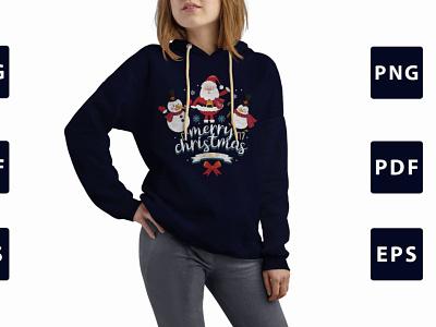 Christmas T-shirt Design New typography design