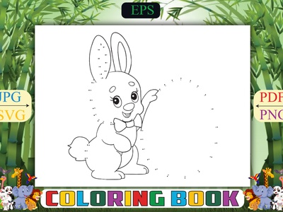 Rabbit Dot Coloring Pages underwater