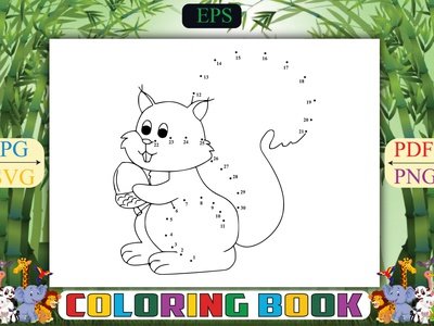 Squirrel Dot Coloring Pages underwater