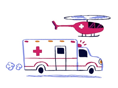 Ambulances illustration