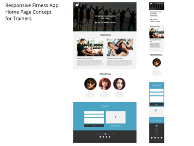 """Responsive Fitness App Concept Home """"Sales"""" Page visual web responsive fitness"""