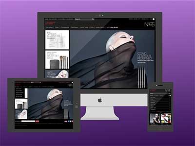 Responsive Cosmetic Site responsive website ux-design