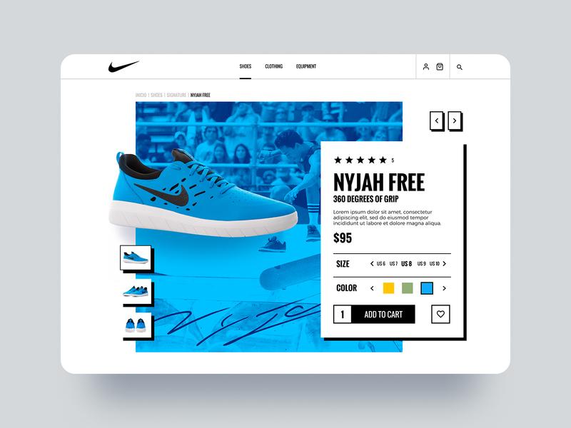 Nike - eCommerce product page slider thumbnails shoes nike nike shoes product page product ecommerce website web design web uxui ux ui design ui
