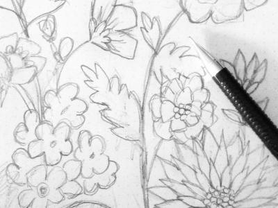 Floral patternwip courtneyblair