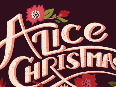 Alice christmas customlettering colorversion