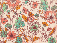 Fall Floral Pattern // Courtney Blair