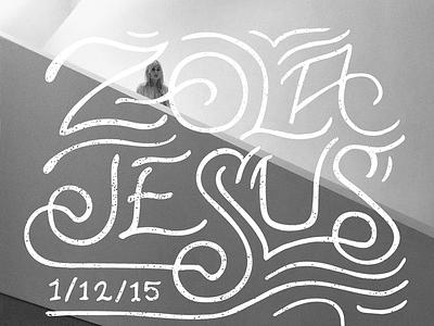 Zola Jesus // Urban Lounge SLC // Courtney Blair zola jesus lettering music hand drawn type urban lounge gig poster