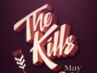 The Kills // Gig Poster // Courtney Blair