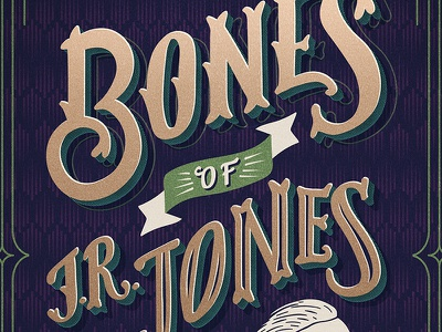 Bones of J.R. Jones // Courtney Blair hand letteirng texture pattern music lettering typography gig poster