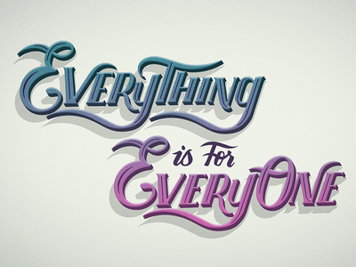Everything is for Everyone // Tedx Slide // Courtney Blair gender lecture tedx typography type hand drawn type hand lettering lettering