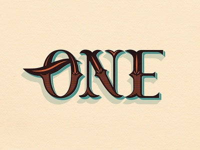 One // Courtney Blair  typeography type hand lettering hand drawn type lettering loneliest number