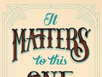 It Matters to this One // Courtney Blair