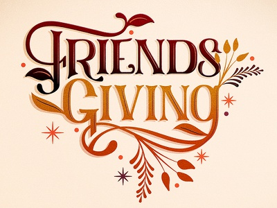 Friendsgiving // Courtney Blair thankful friendsgiving thanksgiving hand drawn type lettering typography type