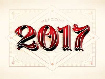 Welcome 2017 // Courtney Blair 2017 new year happy new year typography type hand drawn type hand lettering lettering