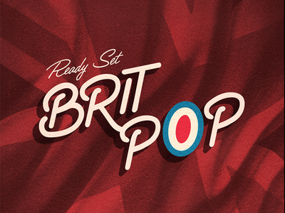 Britpop // Courtney Blair music britpop typography type hand drawn type hand lettering lettering