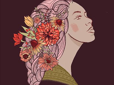 International Women's Day // Courtney Blair women floral international womens day illustration