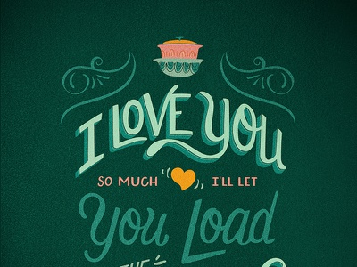 I Love You So Much // Courtney Blair handlettering typography illustration texture hand drawn lettering