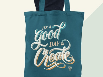 Create Everyday Tote // Courtney Blair design hand lettering hand drawn type typography hand drawn lettering