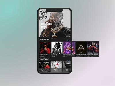 music explorer app design ux ui