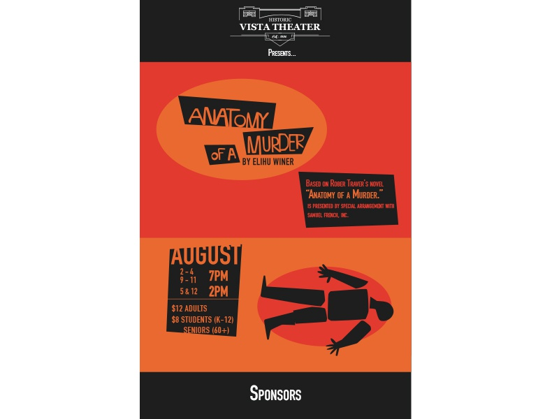 Anatomy Of A Murder Publicity Poster By Alex Cowles Dribbble