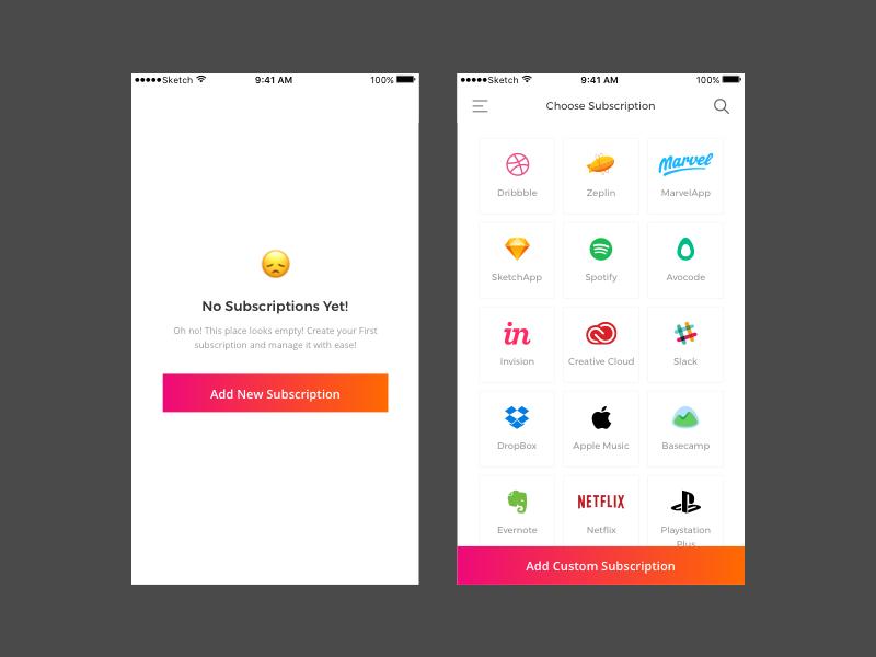 Subscription Management App