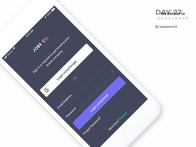 100 Days of UI - #27 clean minimal app mobile ios challenge dark ux ui