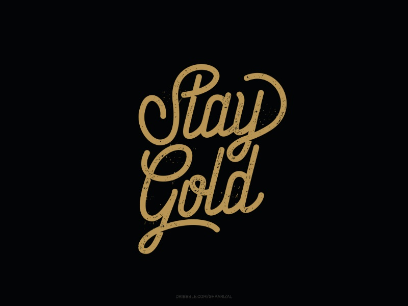 Stay Gold for sale tshirt design typography lettering