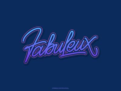 Fabuleux for sale tshirt design typography monoline lettering
