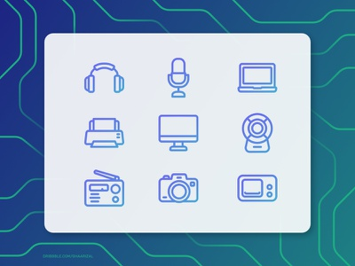 Electronic / Device Icon Set apps interface uiux device illustration vector icons