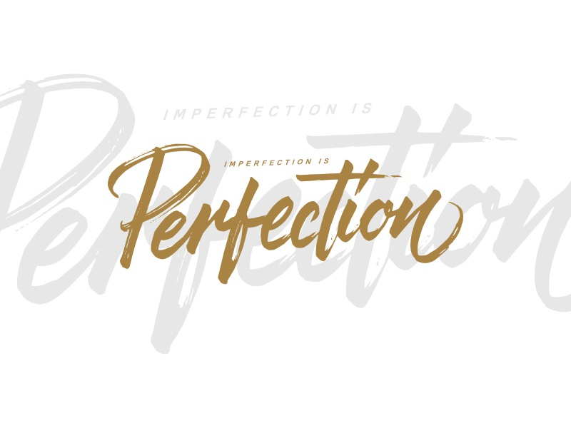 Imperfection for sale tshirt design typography brushpen lettering