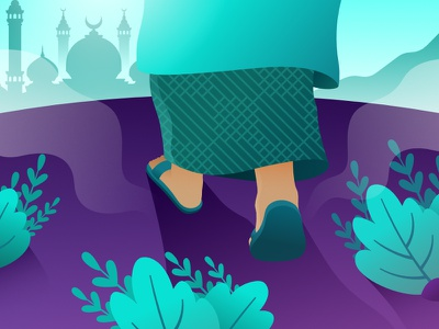 Come To Allah islamic uiux gradient illustration vector