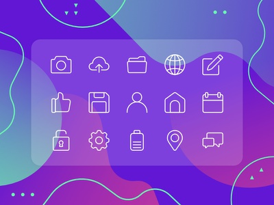 Rounded UI Icon Set (FREE DOWNLOAD) gradient interface uiux illustration vector icons