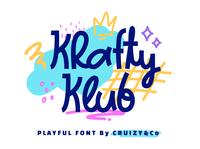 Krafty Klub Font Cover