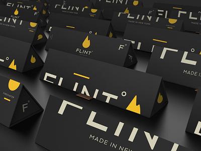 Flint Packaging flint process firestarter fire product logo