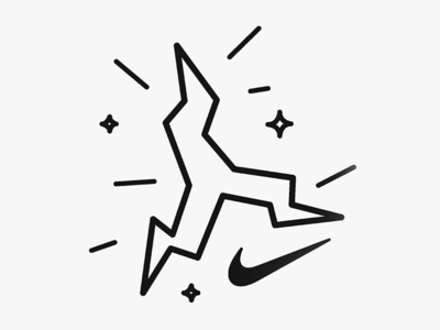 Nike Electric Jumpman outdoors trail nike trail running bold swoosh line weight spark trail running logo electric running nike