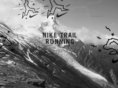 NTR Outdoors outdoors trail nike trail running bold swoosh line weight spark trail running logo electric running nike