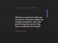 Atto Thesis / Martha Graham