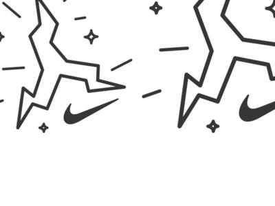 Nike Lightning Jumpman - NTR outdoors trail nike trail running bold swoosh line weight spark trail running logo electric running nike