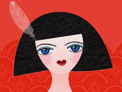 Lady in Lace 01 illustration