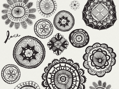 Lace drawing sketching lace black  white