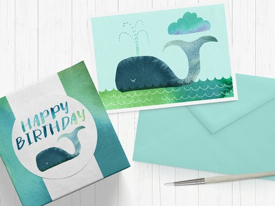 Water Colour Whale gift wrap greetings card water colour background texture backgrounds stationery whale watercolor water colour water color watercolour