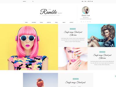 Ramble - Multi-Concept Blog, Magazine And Shop HTML Template sports clean design e-commerce personal blog travel blog fashion blog shop magazine blog