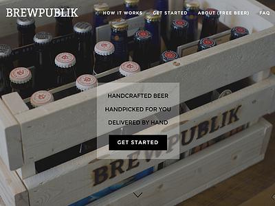 BrewPublik Homepage startup beer homepage website