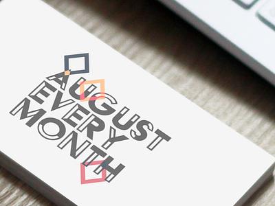 August Every Month logo design graphic design logo design branding
