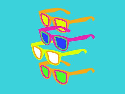 Wayfarer Illustration wayfarers sunglasses illustration