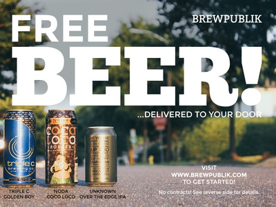 BREWPUBLIK Direct Mail Postcard