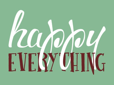 Happy Everything Holiday Card christmas happy postcard card holiday