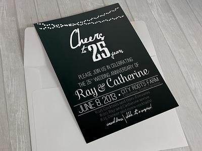 Anniversary Invitation graphic design design invitation