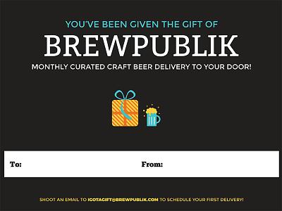 BREWPUBLIK Gift Card delivery craft beer beer brewpublik
